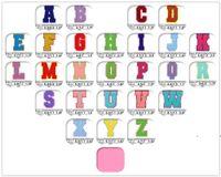 Полотенце вышивка мультфильм красочные буквы Chenille Patch Fabric Custom Sever на радуги цветов писем стикер лоскутное одеяло я люблю тебя FWD7269