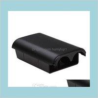 استبدال البطارية حزمة الغطاء الخلفي قذيفة حالة البلاستيك ل xbox360 إكس بوكس 360 واحد لاسلكي تحكم البطارية المنزل Q1 9BDMM J7FZE