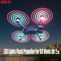 UAV Air 2 dron LED Lights Flash Propeller 7238F Rechargeable Propeller Night Flying For DJI Mavic Air 2S Drone Propeller Accessories Q0602