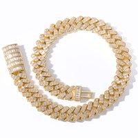 HIP HOP ILED OUT DE BLING Collier Chaîne Haute Qualité 17mm Largeur Miami Cuban Chains HiPhop Colliers Bijoux de mode