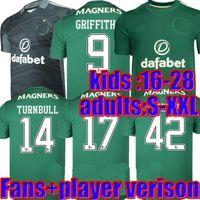 Фанаты Player версия 2022 Celtic Home Soccer Jerseys Edouard 21 21 22 Выезд 3-й коричневый McGregor футболка Griffiths мужчины + детская униформа