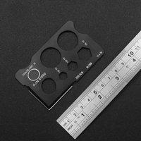 Outdoor EDC Portable Multi-Function Blade Tool Card knife 440 Material Free Nylon Sleeve 2008ALM 04 2008 17-4PH 150YD 100YD 75YD