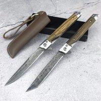 Magic Pen Pocket Messer Schnelllagerbereitstellung 5Cr18Mov Sharp Blade 4 Arten zur Auswahl von Handgemachten Lederabdeckung mit Ebenholzgriff EDC Outdoor-Schneidwerkzeuge