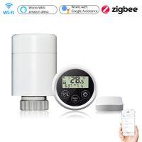 Tuya Smart Thermostat Instrument WiFi Home Zigbee Radiator Actuator Programmable Temperature Controller Support Alexa Google