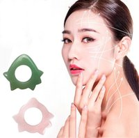 Stones Rocks Bague de massage Gua Sha Sha pour racler la peau du corps pour la peau des outils de chalture d'acupressure de quartz rose