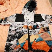 الرجال سستة سترة إلكتروني طباعة الملابس شارع الهيب هوب نمط في الهواء الطلق التباين اللون أعلى الخريف الربيع الربيع معاطف أزياء خريطة الطباعة