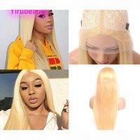 Malezya Virgin İnsan Saç T-Style 13 * 6 Dantel Boyutu Peruk İpeksi Düz Sarışın Renk 613 # 10-30 inç Saç Kapaksız Peruk 13 * 6 T-Gölgeli