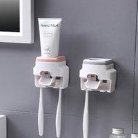 Полностью автоматическая зубная паста сжимание зубной щетки держатель настенные настенные в ванной тщеславие ленивый сжатый артефакт аксессуары водонепроницаемый