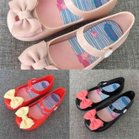 Summer Autumn Children's Fashion Girls' Sandals Bow Button Princess Single Shoes Butterfly Baby Kids Slippers Candy Colors Shoes H916QQLF