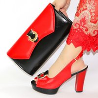 Dress Shoes Est Fashion PU Leather Ladies And Bag Set Italian Style High Heels 10.3CM For Evening Party Size 38-43