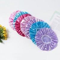 Adultos Color sólido Maquillaje de mujer Casquillo de la ducha de las mujeres Moda para las niñas del cordón Hats Lovely for Home Beauty Salon Taps impermeables G38xxs7
