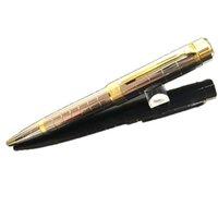 Porte-stylo de stylo en treillis à rouleaux de cadeaux Titulaire de stylo en treillis avec Cap d'écriture Gold Clip haut de gamme Logo French Brand Billets STIFT COFFLINKS
