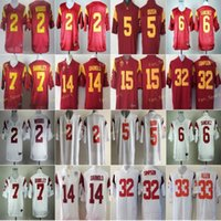 Jersey Football USC Trojans College 2 Robert Woods 6 Mark Sanchez 5 Reggie Bush 7 Matt Barkley 14 Sam Darnold 15 Michael Bowman 32 O.J Simpson