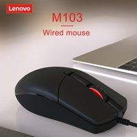 MICE Lenovo Wired USB Optical Mouse Mouse 1000 DPI Ergonomic Silent Gaming Office для ноутбука Настольный компьютер Компьютер ноутбук