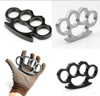 Steel Silver gold black Thin Brass Knuckle Dusters,self Defense Personal Security Women's and Men's Self-defense Pendan