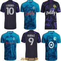 2021 Seattle Sounders Футбол Джетки Parley PrimeBlue Kit Cincinnati 21 22 Jimi Hendrix Nashville SC Montero Minnesota United FC CamiSetas Футбольные рубашки