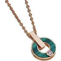 الأزياء الفاخرة الماس قلادة الكلاسيكية بوجيا الأم من اللؤلؤ جولة الأخضر قلادة تصميم المجوهرات الأصل التعبئة والتغليف هدية مربع