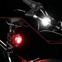 دراجة الأمامي الأمامي + الذيل الخلفية مصباح 3 أوضاع usb قابلة للشحن mtb الدراجة الجبلية السلامة تحذير ضوء الدراجات اكسسوارات أضواء