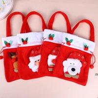 Рождественские Apple Bag Счастливого Рождества Конфеты Подарочные Сумки Украшение Домой Красная Печатная Сумка HWA7522