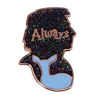 Pins, Brooches Always Glitter Bravest Man Severus Snape Enamel Pin