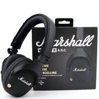 Marshall Chors Mid ANC Bluetooth Наушники Active Shooth Отмена Wireless DJ Стерео Hi-Fi Наушники Глубокая Гибовая гарнитура для iPhone