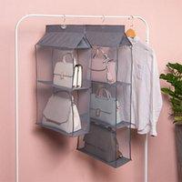 Storage Boxes & Bins 2 3 4 Pockets Dustproof Foldable Hanging Handbag Closet Bag Goods Container Household
