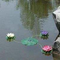 Outdoor Solar Power Energy Lotus Light LED Floating Flower Waterproof Lamp Night Lights For Pool Pond Garden Decoration