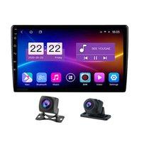 10.1 인치 자동차 DVD 플레이어 듀얼 카메라 레코더 GPS 네비게이터 쿼드 코어 라디오 디스플레이 올인원 용량 성 스크린 미러 - 링크 와이파이 안드로이드 10.0 24 시간 주차 모니터