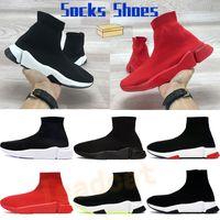 2019  chaussettes de sneakers chaussures de mode noir blanc rouge paillettes bleu plat hommes femmes formateurs coureur occasionnel Les chaussures taille 36-45