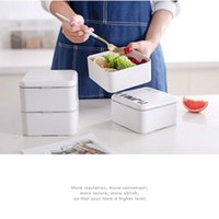 Dinnerware Sets Square Lunch Box Eco-friendly Plastic Material Portable Bento Microwaveble Storage Container For Children