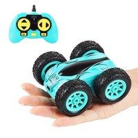 3,7 дюйма RC CAR 2.4G 4CH двухсторонний URE отказов дрейфовый трюк рок гусеничный рулон 360 градусов Flip пульт дистанционного управления Детские игрушки 210729