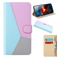 Wallet Phone Cases For Iphone 13 Pro Max Mini 12 11 XSMAX XR XS X Compatible Motorola Mixed Color PU Leather Card Slot Pocket Cellphone Case Back Cover