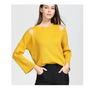 Wholesale femmes lâches pull filles tirant long femme ropa mujer huje tricoter 50pcs / lot Pulls pour femmes