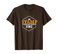T-shirt Collecte de timbres King T-shirt Happy Père Day Shirt
