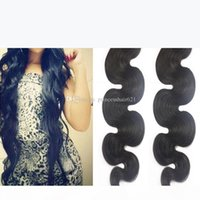 Гламурный индийский кузовной волна человеческих волос Weaves 2 связки мода волнистые волосы стиль перуанские малайзийские бразильские девственные волосы уток для черных женщин