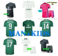 Kit de niños adultos 22 22 Celtic FC Jerseys de fútbol Edouard 2021 2022 Elloyoussi Turnbull Ajeti Camisa de fútbol Set Christie McGregor Griffiths Forrest Uniforme
