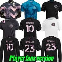 Edition spéciale 20 21 22 Inter Miami CF Soccer Jerseys Higuain Beckham Pizarro Matuidi Black 2021 2022 Version des fans de joueurs Version à manches longues Charte de football