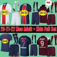 Kids PSG Paris saint germain kits 20 21 di calcio jersey 2020 2021 Mbappe ICARDI Neymar camicia JR Uomi bambini set uniformi Maglia piede hommes Paris