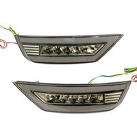 Fari dell'automobile 1 coppia paraurti posteriore Gruppo diurno Light DRL LED Freno Reflector Reflector Lampada fendinebbia per ECOSPORT 2013-2021