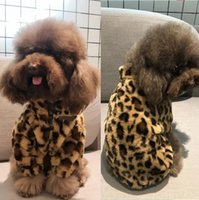 Winter Dog Clothes S Cat Vest Small Sweater Luxurys Designers Pet Supply Clothing For Puppy Knitting Sweatshirts Leopard Print D2110197Z