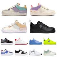 2021 Top Moda Sneakers Dunk 1 Correndo Sapatos Plataforma Low Air Airforce Shadow One Homens Mulheres Utilitário White Black Forces Off Treinadores