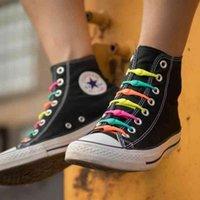 Ayakkabı Parçaları Aksesuarları Ayakkabı Ayakkabı Shoelaces 16 ADET Şile Yuvarlak Elastik Danteller Özel Erkekler Kadınlar Için Kravat Shoelace Çocuklar Çocuk Tüm Sneakers Fit Kayış Shoelace