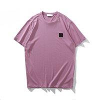Мода TopStoney Summer Simple Icon Мужские футболки Высококачественные хлопковые с коротким рукавом Tees All-Match Comfort Повседневная сплошные цвета