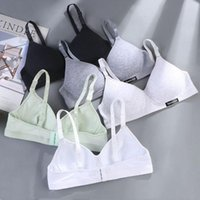 Bras Ultra Thin Cotton Summer Women Girls Wire Free Bra Hipster Comfortable Lingerie Sports Vest Sleep Without Steel Ring