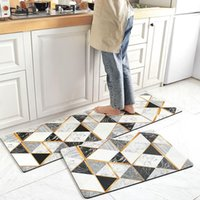Carpets Nordic Long PU Kitchen Mat Set Home Entrance Hallway Doormat Non-Slip Bathroom Carpet Decorative Balcony Waterproof Rug