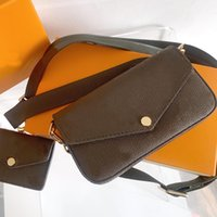 Moda de cuero para mujer Lujos de lujo diseñadores Mensajeros M80091 Cintura Mini Hombro Crossbody Handbod Bols Bolsos Bolsa de asas + Bolsas de billetera 2021