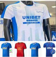 2021 2022 Ranger 150. Jubiläumsfußball Jerseys Glasgow-Training T-Shirts-Champions 55 Defoe Hagi Barker Morelos Tavernier 20 21 22 Football-Hemden Männer + Kinder-Kit