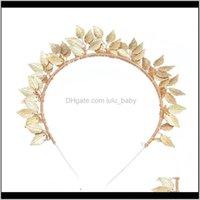 El aleación brillante europea alambre de cobre hojas tradicional hechos a mano oro chapado en oro accesorios joyería de moda rup93 itedbands tksuy