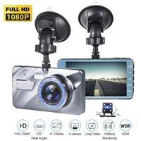 Full HD 1080P Car Caméra DVR Auto 4 pouces Rétroviseur Vidéo Digital Video Enregistreur Double lentille Caméscope 2.5d Dash Cam T6