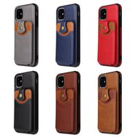 Portagli slot della carta magnetica Custodia in pelle Coverwallet per iPhone 12 Pro Max 11 x XR XS Max 6 7 8 Plus